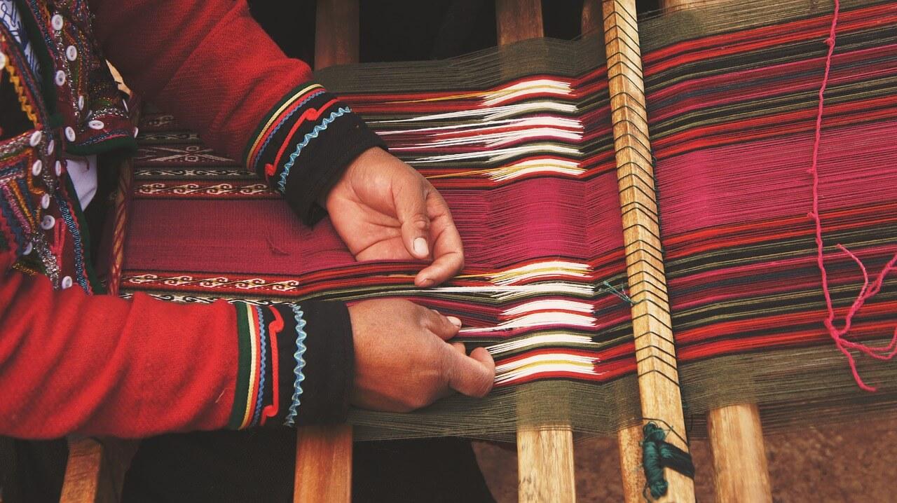 kolorowa tkanina